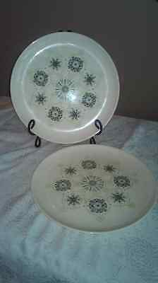 Vintage Taylor Smith & Taylor Colorcraft Pilgrims Lace Dinner Plates ~ Two