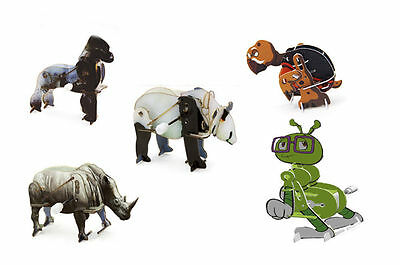 3D Wind Up toy Puzzles x 5 Animals in Gift Box New Kids Toys NSW Australia