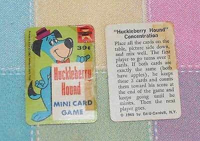 REPLACEMENT CARDS - Vintage 1967 Huckleberry Hound Mini Card Game by Ed-u-Cards