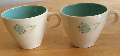 2 Vintage Taylor Smith Taylor Ever Yours Boutonniere Tea Cups 1960s EUC