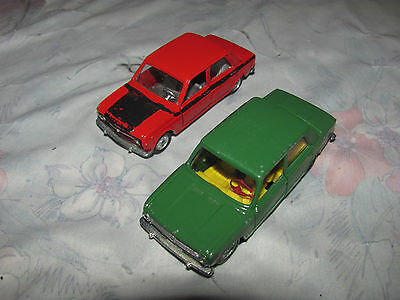 Vintage Die Cast Mercury Company Italy Fiat 128 and Fiat 124