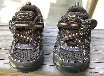 "STRIDE RITE boys toddler size 5 M, brown ""Clayton"" athletic shoe  - N"