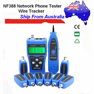 Au Ship NF-388 Network Ethernet LAN Phone Tester Wire Tracker USB Coaxial Cable