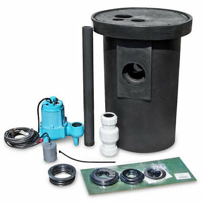 Little Giant 509073 9S-SMPXRT-K Simplex Package with Roll Top Ployethylene Basin