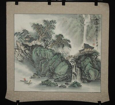 Chinese Painting Antique Landscape Scroll Asian Art ink China Antique Makuri g34
