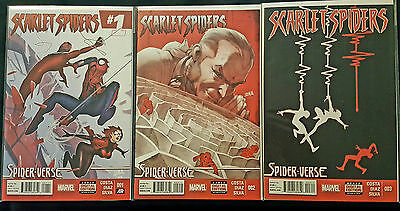 Scarlet Spiders 1, 2 and 3, full mini series (2015) NM+, Unread, Spider-Verse