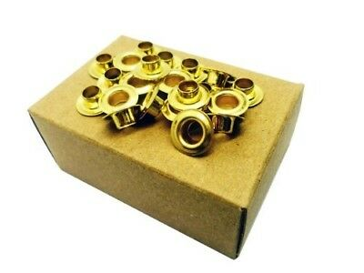 Brass Eyelets Size 0 - 144 box. BOXED BRASS EYELETS - 144. Shipping is Free