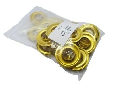 Handy Pack 24 Brass Eyelets Size 6. BAGGED BRASS EYLETS - 24. Shipping is Free