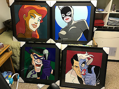 Batman Animated Lithograph Cel Animation WB Limited Edition Print DC Harley
