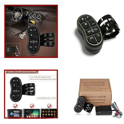 Auto Wireless Car Steering Wheel Button Remote Car Stereo DVD GPS Controller ABS