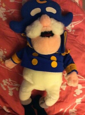 Vintage 1987 Cap'n Crunch Cereal Promo Captain Plush Stuffed Doll Large 17 Inch