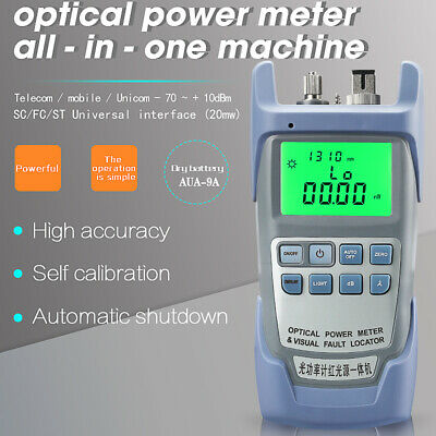 All-IN-ONE Fiber Optic Power Meter -70 to +10dBm and 20mw Visual Fault Locator