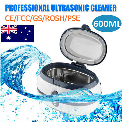 600ml Multi Purpose Ultrasonic Cleaner Timer Jewellery Watch Sonic Wave Cleaning