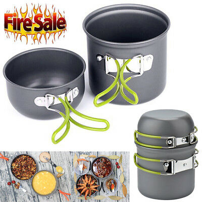 Camping Equipment Outdoor Camping Pots And Pans Set 2PCS Camping Cookware