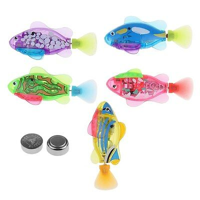 8Pcs Swimming Robot Fish Activated in Water Magical Electronic Toy Funny HOT!
