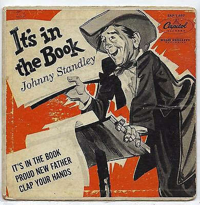 """Johnny Standley - It's In The Book - EP - 7"""" Single"""