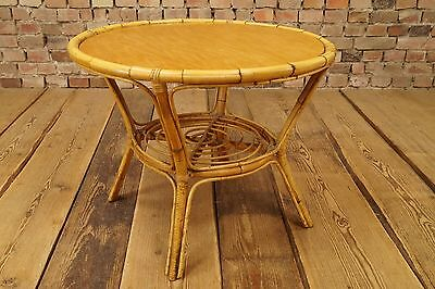 60er Coffee Table Side Table Coffee Lounge Table Table Bamboo 50s Sidetable