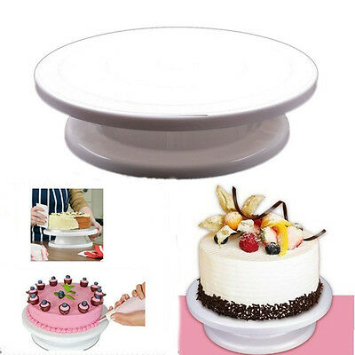 Cake Decorating Rotating Turntable Stand Smoother Polisher Sugarcraft Pink White