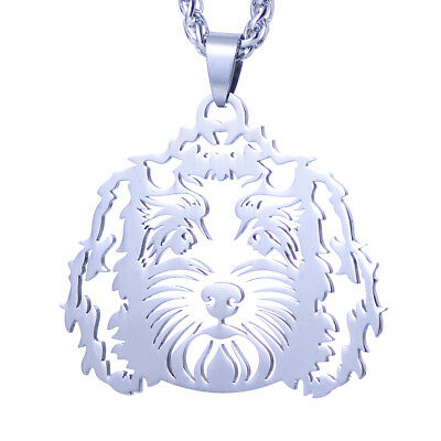 Stainless Steel Golden doodle Labradoodle Pet Dog ID Tag Collar Charm Pendant