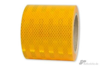 10mx100mm 3M™ Engineer Grade Reflex Ribbon 3430 RA1 Foil Reflective Yellow