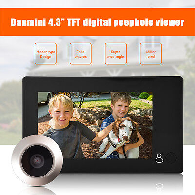 3/4.5inch LED Digital Door Camera Video Peephole Viewer Zoom Video Recorder OB