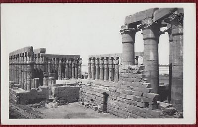 Original Photo Postcard Luxor Temple Egypt Postmark Arabic Archeology 1959