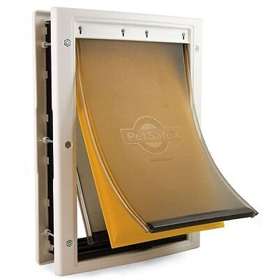 Dog Door Outside Flap Insulated Magnetic Protects House Heat and Cold 3 Sizes