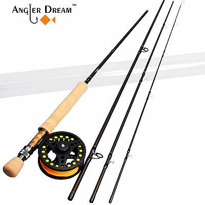 8WT Fly Fishing Combo 9FT Carbon Fiber Fly Rod 7/8WT Fly Reel & Backing & Line