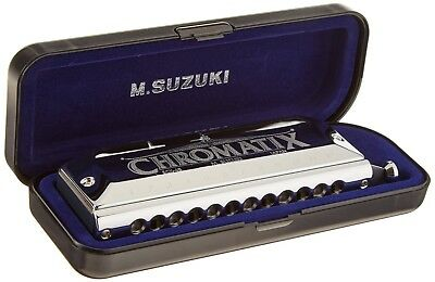 Suzuki Chromatix SCX-48 12 Hole Chromatic Harmonica, Key of A. Delivery is Free