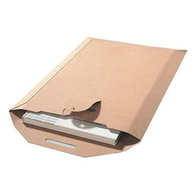 Specialty Envelope Brown Wallet 500gsm DVD BOOK CARDBOARD RIGID MAILER 265x210mm