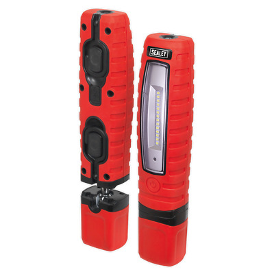 Super Saver Red Sealey 360° Led Inspection Hand Lamp Torch Rechargeable