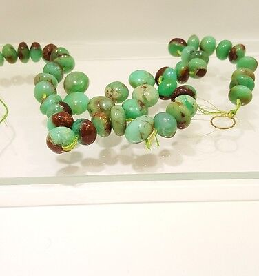 Vintage CHINESE Graduated Turquoise Saucer Beads 15mn - 19mm Stunning