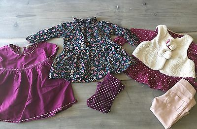 Lot Baby Girl Clothes 3 Outfits Gap Tea Collection Old Navy Dylan And Abby 3-6mo