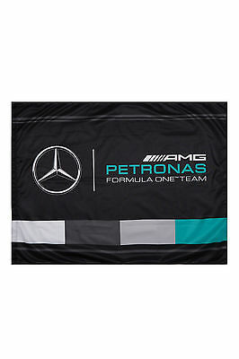 New! Mercedes-AMG F1 Formula One Team Official Fan Flag 90x120cm Supporters