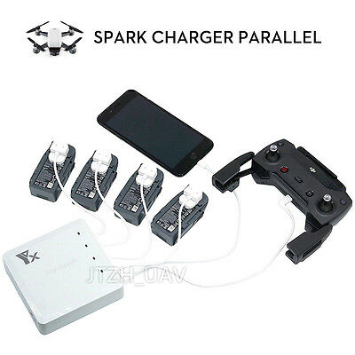 6 In 1 Spark Battery Remote Charger Hub Parallel Dual USB For DJI Spark Drone