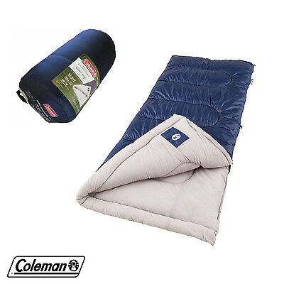 "Sleeping Bag for Cool Weather by Coleman Brazos 33"" x 75"" Outdoor Blanket 20-40F"