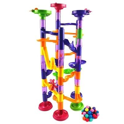 Fun Marble Pipe | Cute Colourful 222pcs Translucent Marble Run Toy Set with