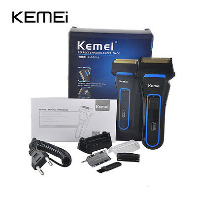 Men's Electric Shaver Razor Trimmer Rechargeable Reciprocating Double Groomer