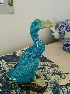 Chinese duck antique turquoise blue duck 1930s