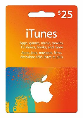 Apple iTunes $25 USD Karte Code - iTunes Gift Card 25 Dollars US Apple Store Key