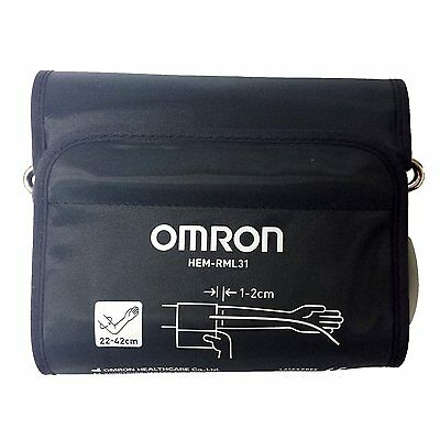 Omron Blood Pressure Monitor Adult Medium-Large Easy Arm Cuff 22-42cm HEM-RML31