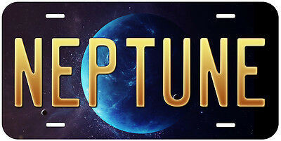 Neptune Planet Any Text Personalized Novelty Car Aluminum License Plate