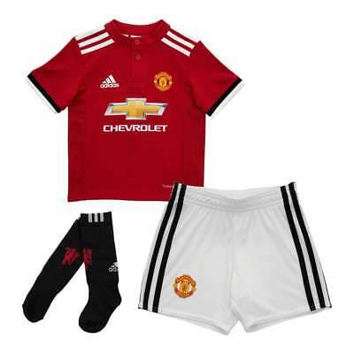 Adidas Infants Manchester United 2017/2018 Mini Home Kit (18M-6Y) (Red/White)