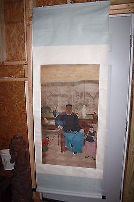 18th/19th C. Chinese Ancestral Portrait Scroll Painting