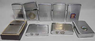 Vintage lot of lighters 5 Zippo Lighter 4 mixed brands Flamex apollo
