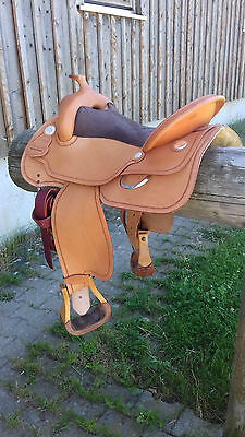 "Westersattel 16"" neuwertig flex tree AK Saddlery Full Quarter Baum"