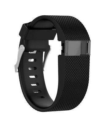 Fitbit Charge HR  strap in Black Large with buckle - Posted from the UK