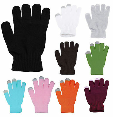 Screetouch Gloves Knitted Wool Hand Wrist Warmer Fingerless Winter Touchable
