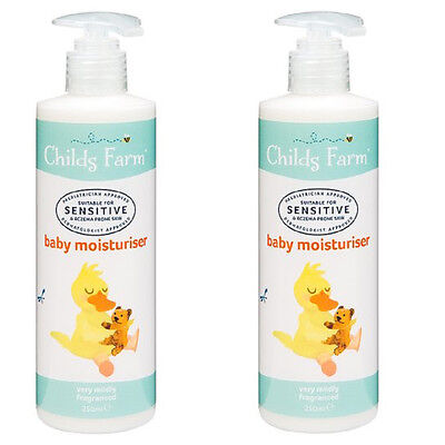 Childs Farm Baby Moisturiser  2 x 250 ml sensitive and eczema-prone skin