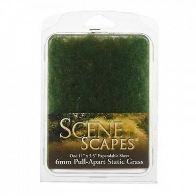 (6mm, Dark Green) - Bachmann Industries SceneScapes Pull Apart Static Grass,
